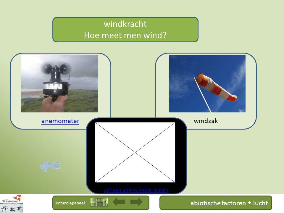controlepaneel windkracht Hoe ontstaat wind? bron : museumkennis.nl abiotische factoren  lucht