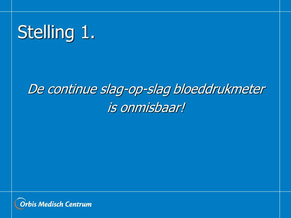 Stelling 1. De continue slag-op-slag bloeddrukmeter is onmisbaar!