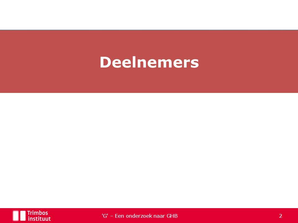 G – Een onderzoek naar GHB 53 Demografische gegevens