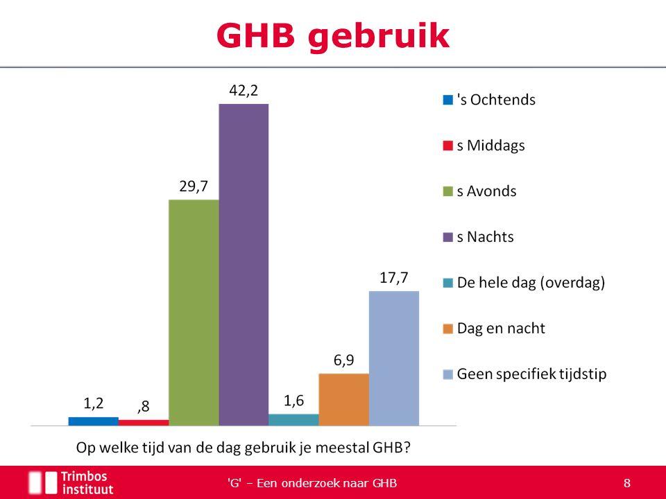 Additionele slides… G – Een onderzoek naar GHB 39