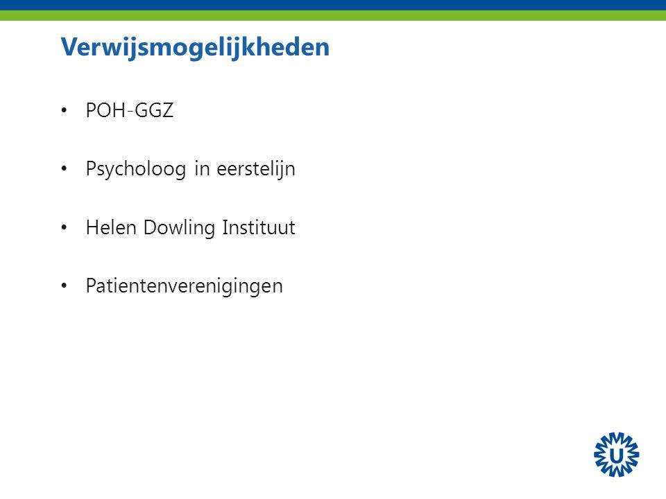 Verwijsmogelijkheden POH-GGZ Psycholoog in eerstelijn Helen Dowling Instituut Patientenverenigingen
