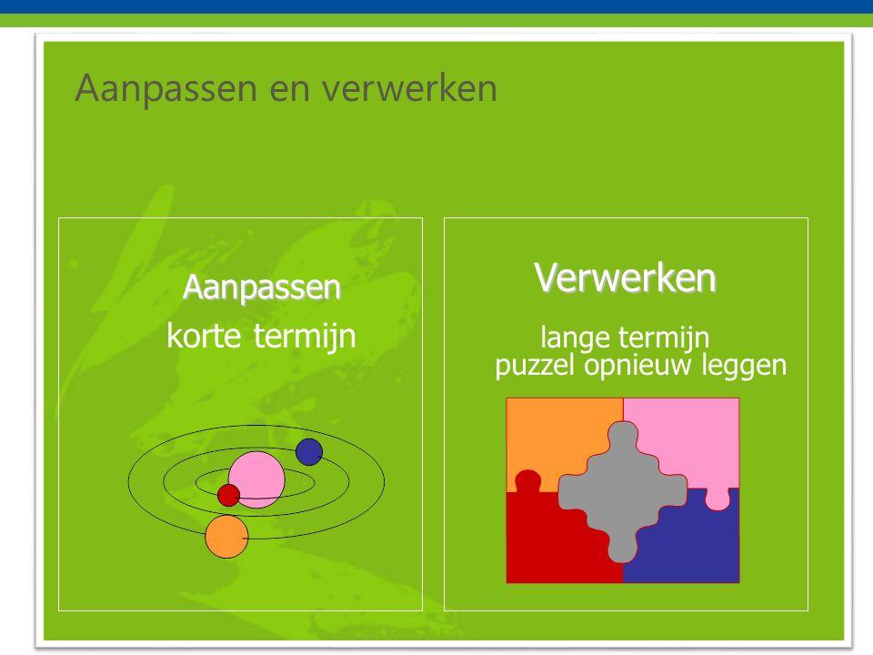 Aanpassen en verwerken Aanpassen korte termijnVerwerken lange termijn puzzel opnieuw leggen