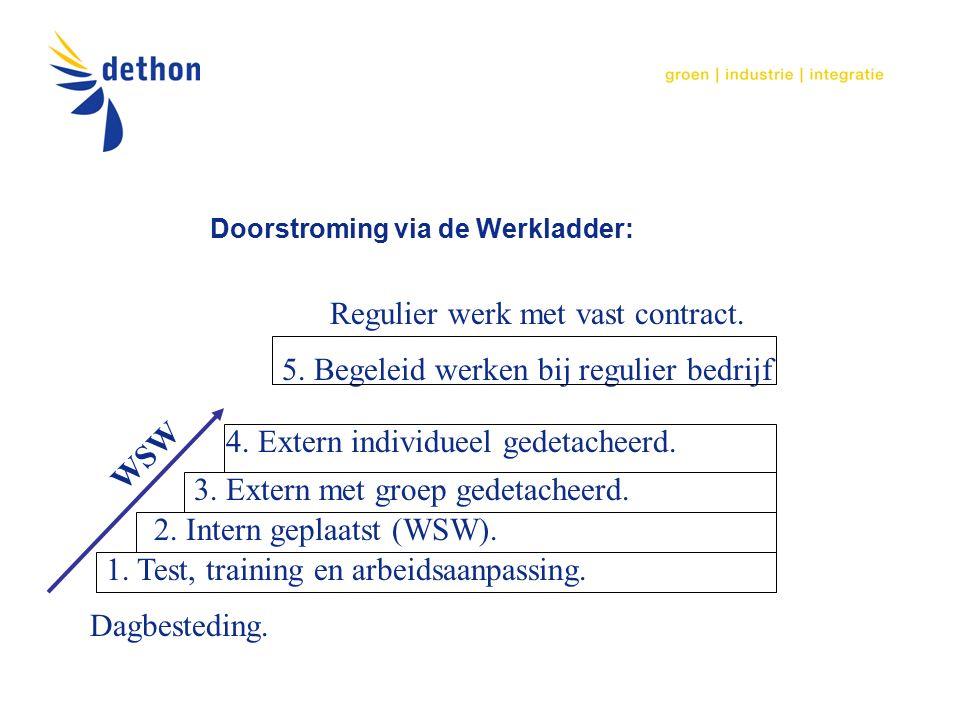Doorstroming via de Werkladder: 1. Test, training en arbeidsaanpassing.