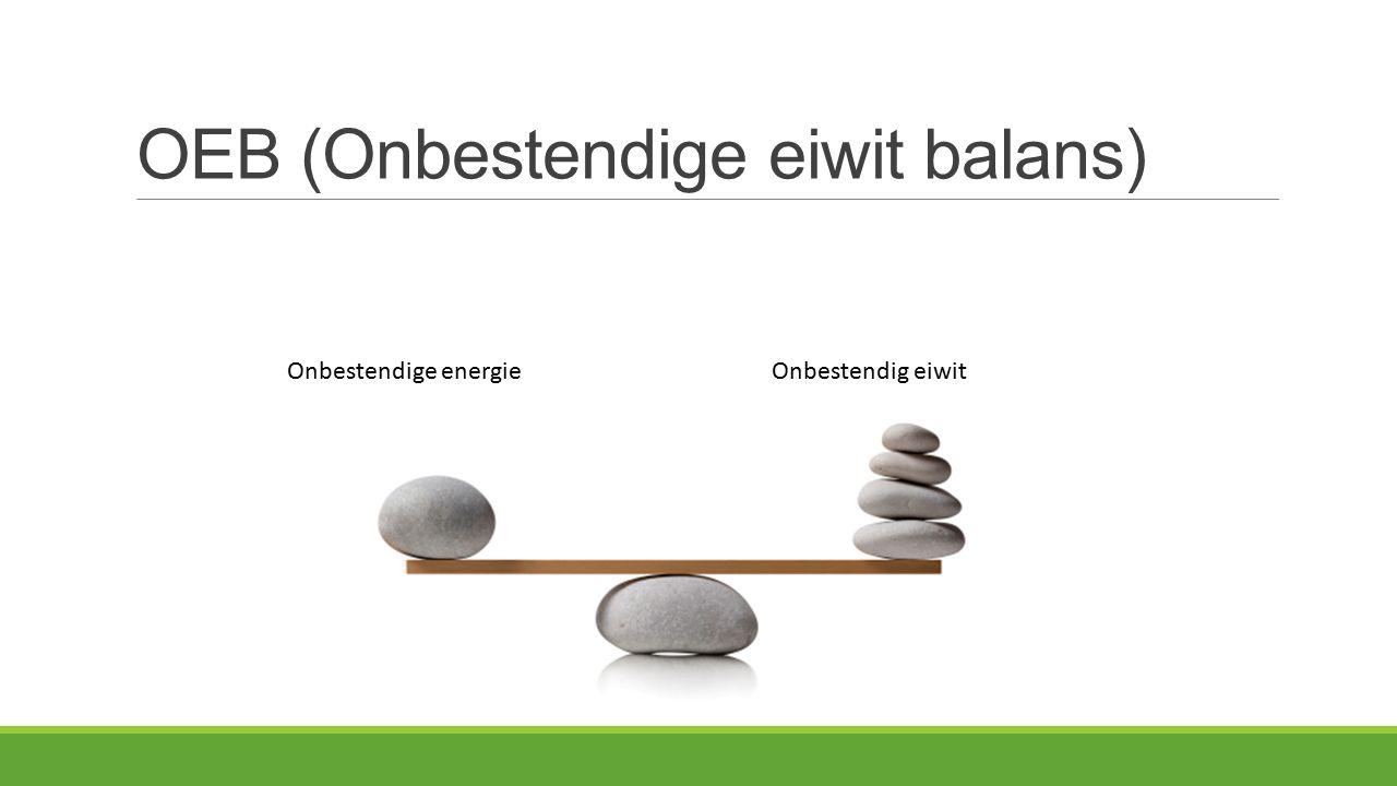 OEB (Onbestendige eiwit balans) Onbestendige energieOnbestendig eiwit