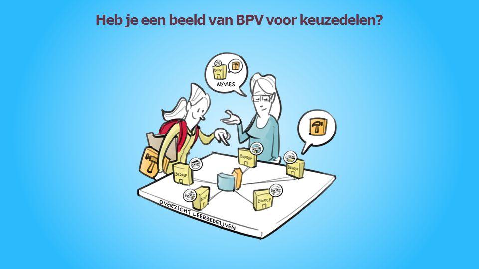 Heb je een beeld van BPV voor keuzedelen