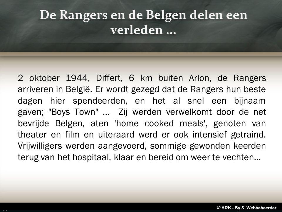 2 oktober 1944, Differt, 6 km buiten Arlon, de Rangers arriveren in België.