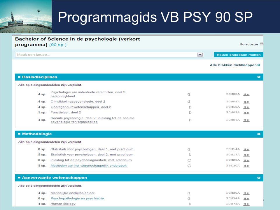 Programmagids VB PSY 90 SP 5