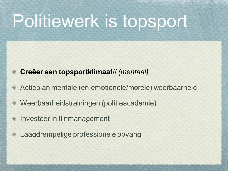 Politiewerk is topsport Creëer een topsportklimaat!.