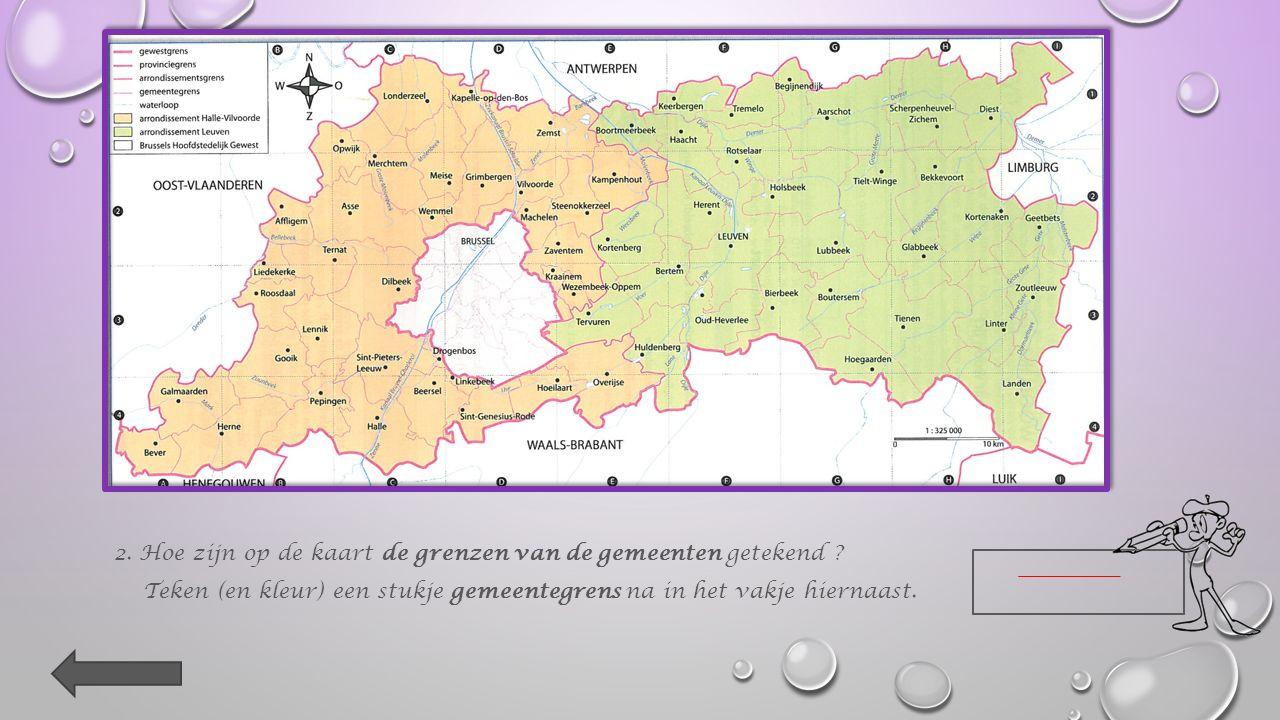 Kruis aan. Op de kaart staan de namen van mensen. straten. pleinen. gemeenten