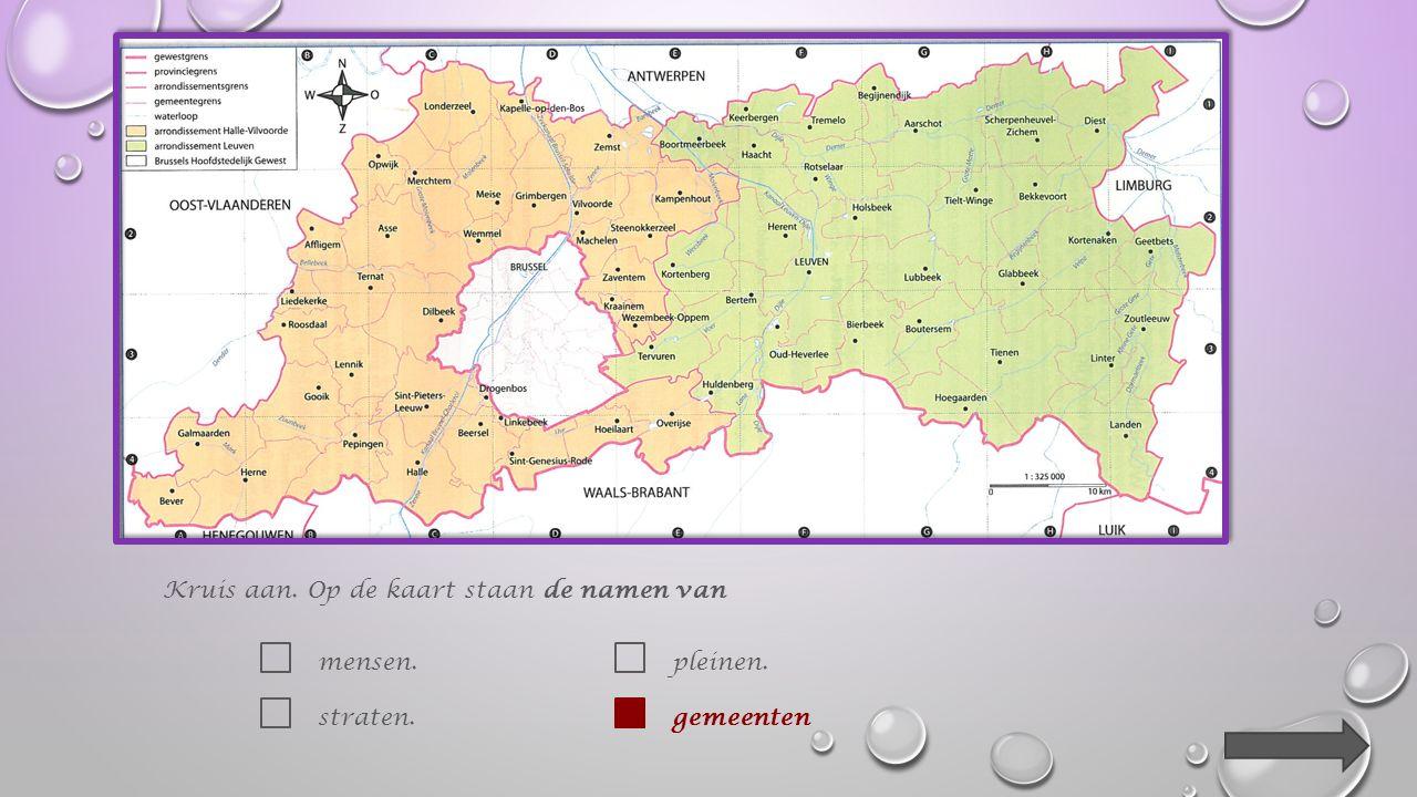 1.Welke provincie wordt op die kaart afgebeeld . Kruis aan.