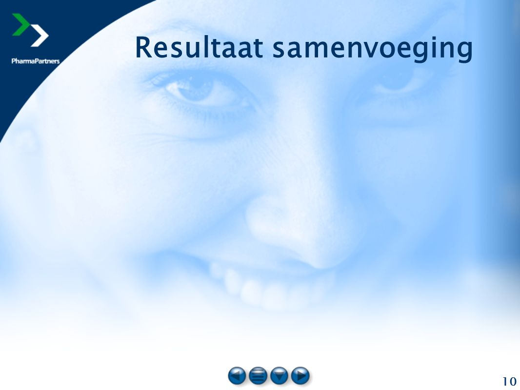 10 Resultaat samenvoeging