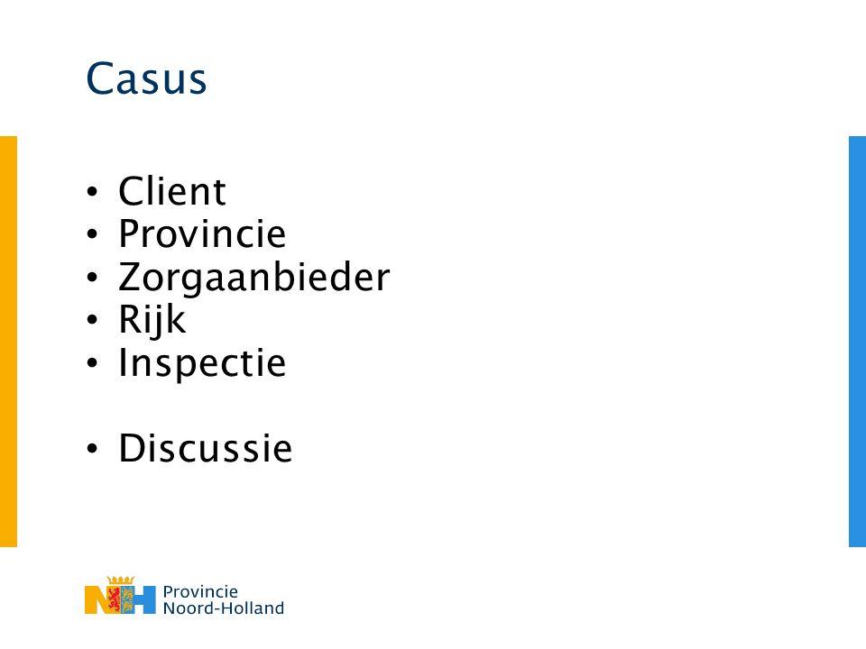 Casus Client Provincie Zorgaanbieder Rijk Inspectie Discussie