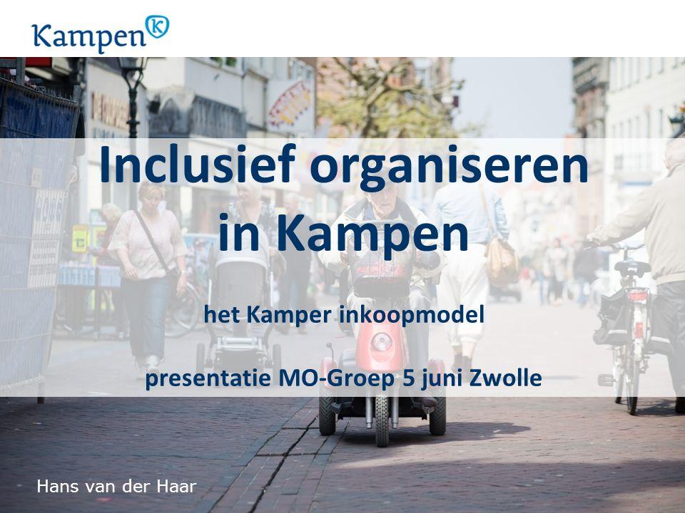 Inclusief organiseren in Kampen het Kamper inkoopmodel presentatie MO-Groep 5 juni Zwolle Hans van der Haar