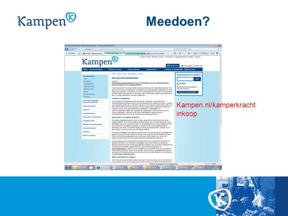 Meedoen? Kampen.nl/kamperkracht inkoop
