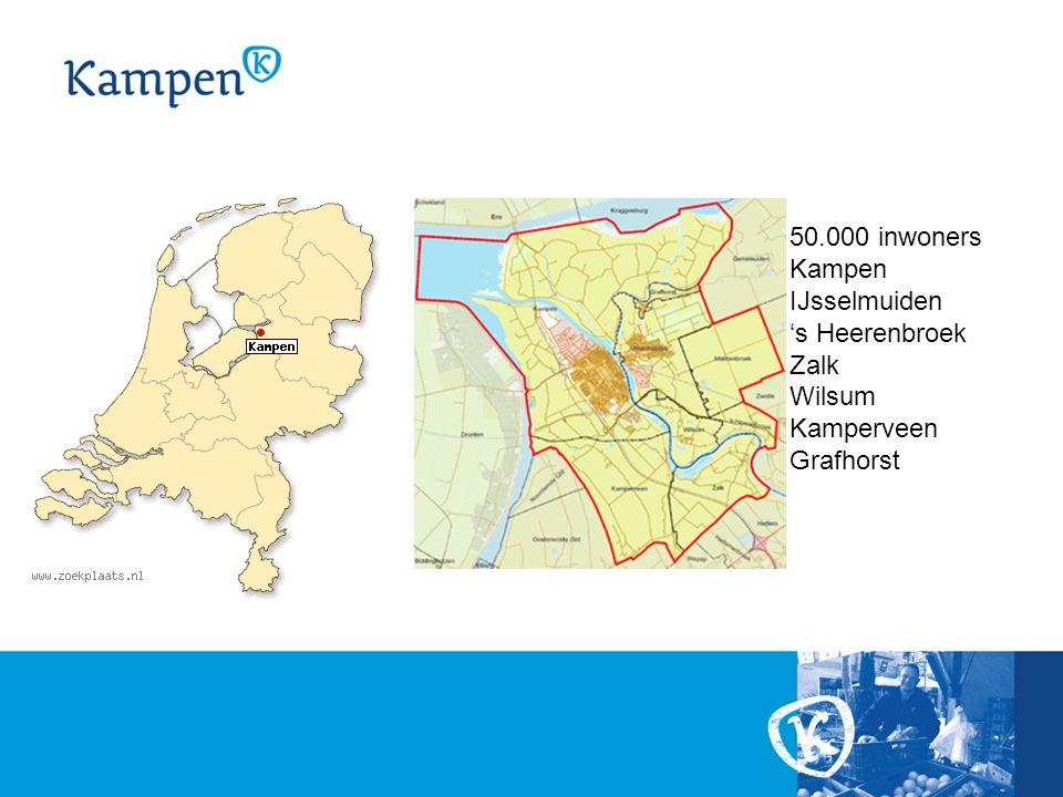50.000 inwoners Kampen IJsselmuiden 's Heerenbroek Zalk Wilsum Kamperveen Grafhorst