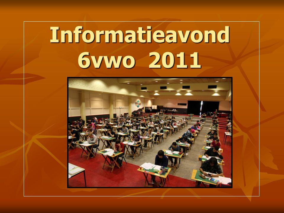 Informatieavond 6vwo 2011