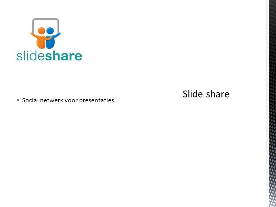  Social netwerk voor presentaties