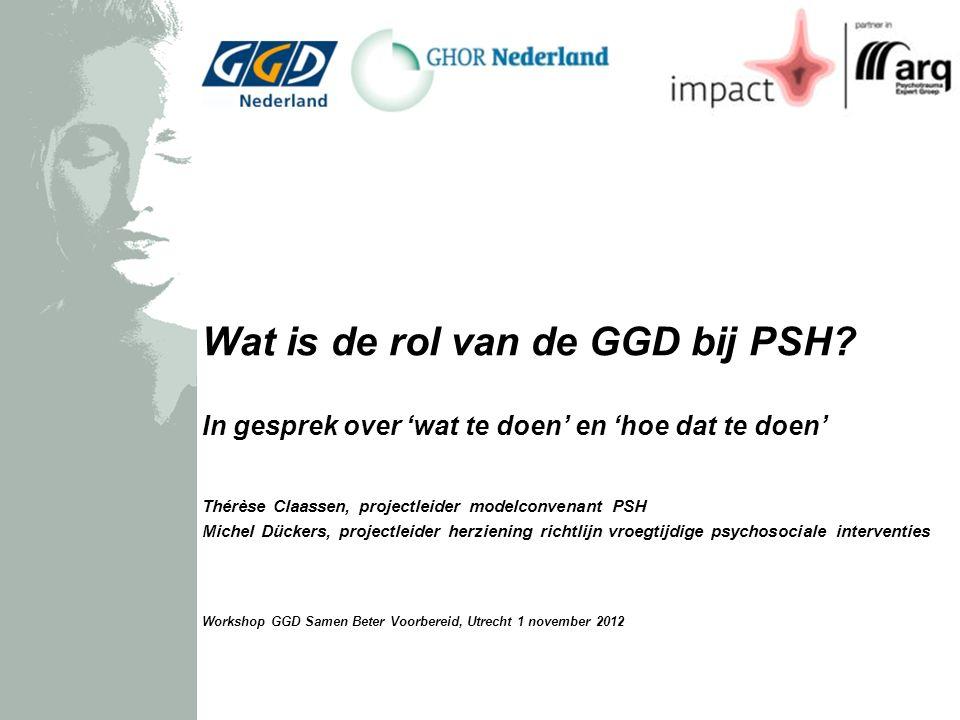 Wat is de rol van de GGD bij PSH.