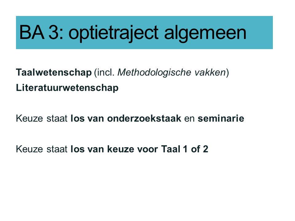 BA 3: optietraject algemeen Taalwetenschap (incl.
