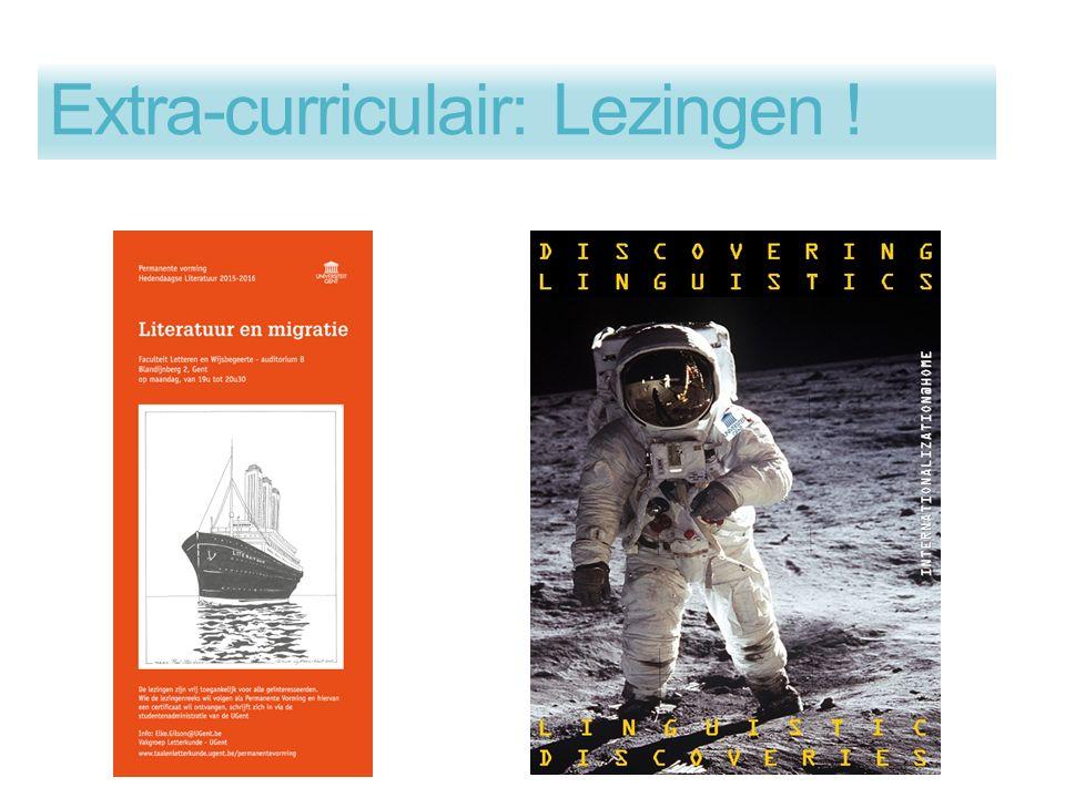 Extra-curriculair: Lezingen !
