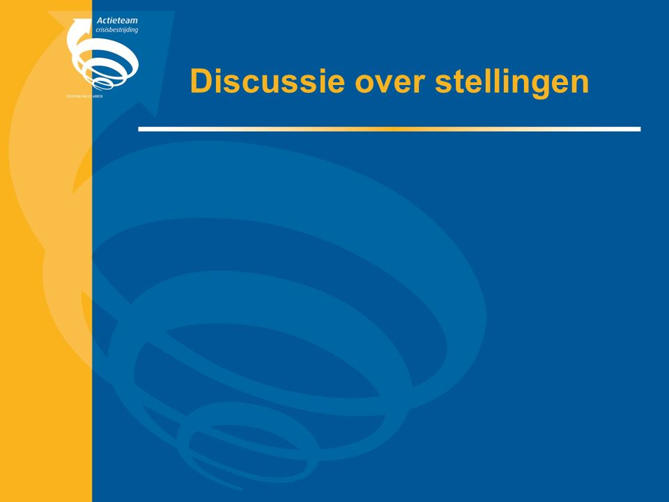 Discussie over stellingen