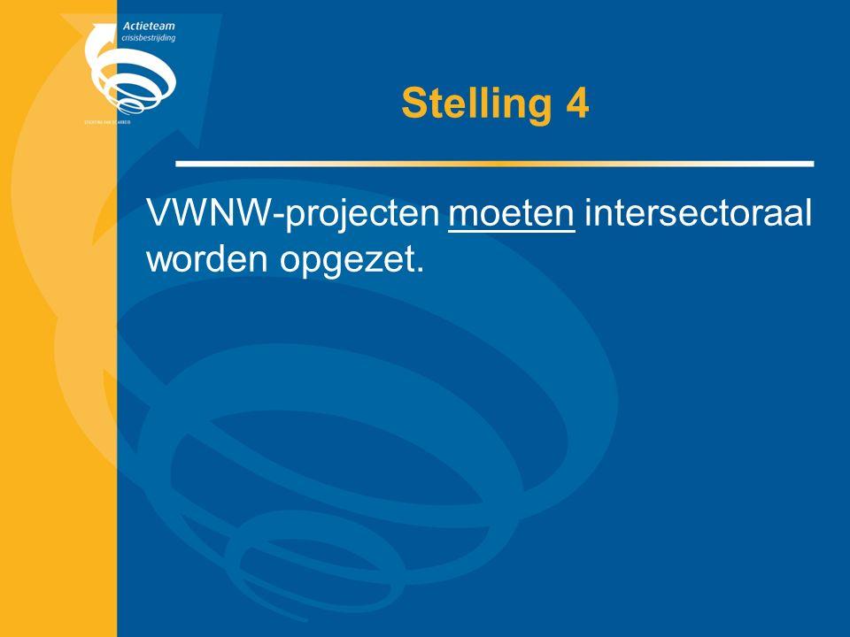 Stelling 4 VWNW-projecten moeten intersectoraal worden opgezet.