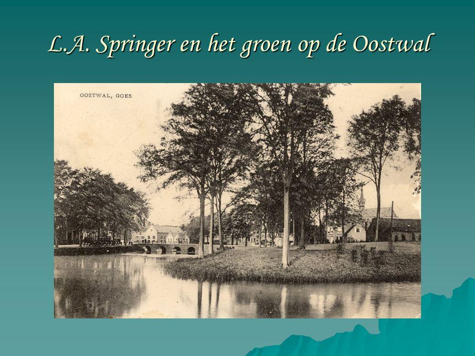 Leonard Adriaan Springer (1855-1940)  Leonard Adriaan Springer was een vooraanstaand tuinarchitect die voor steden als Amsterdam, Deventer, Breda, Coevorden en Goes fraaie ontwerpen heeft gemaakt voor de beplanting van stadswallen.