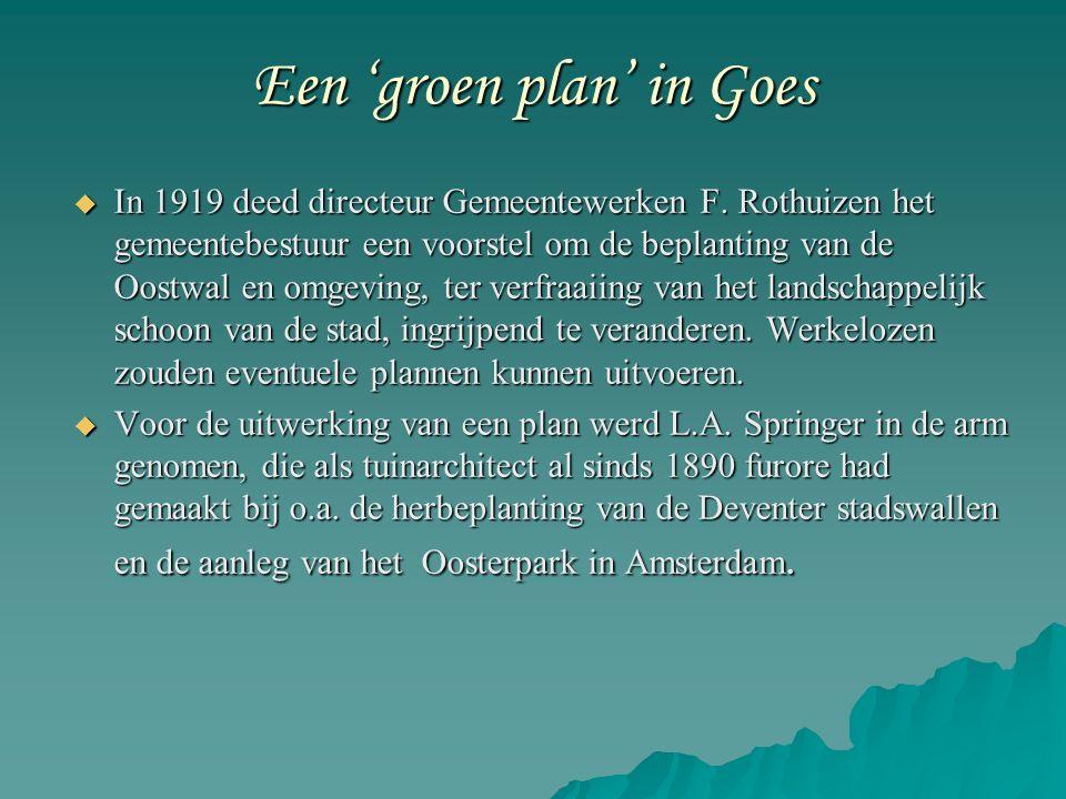 Een 'groen plan' in Goes  In 1919 deed directeur Gemeentewerken F.