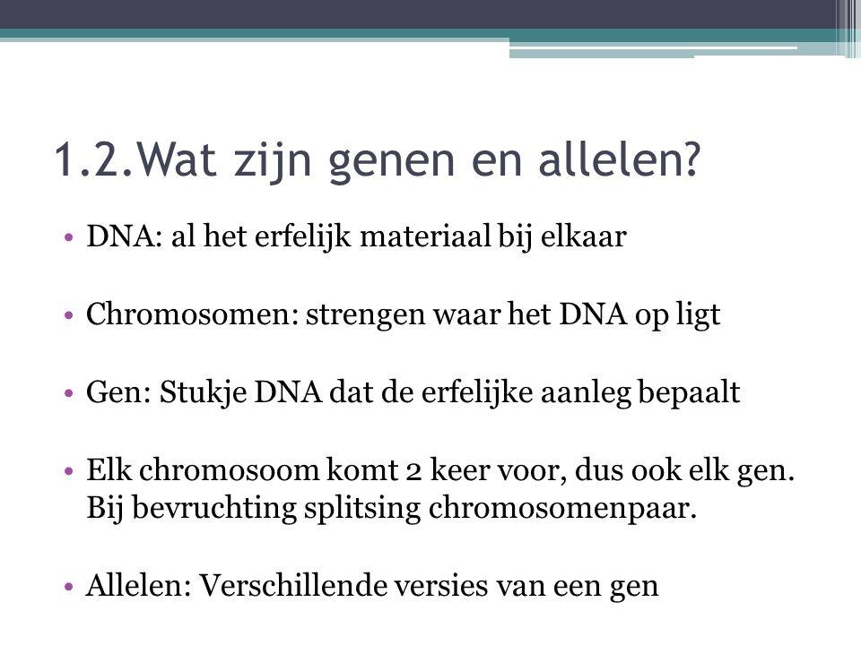 1.2.Wat zijn genen en allelen.