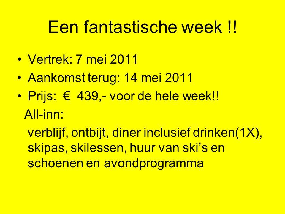 Een fantastische week !.