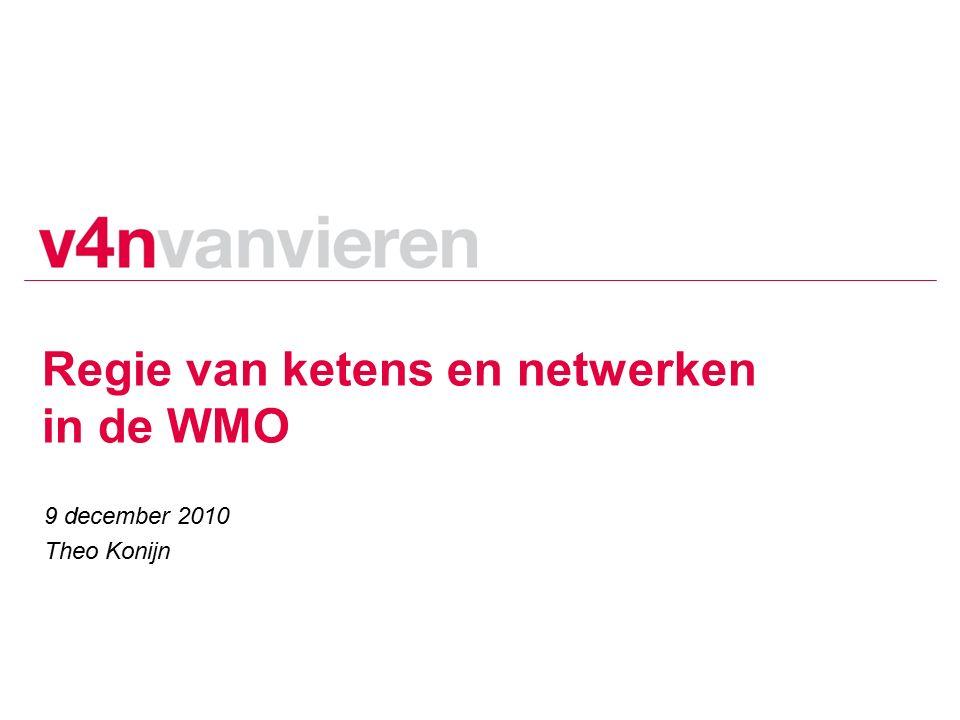 Regie van ketens en netwerken in de WMO 9 december 2010 Theo Konijn