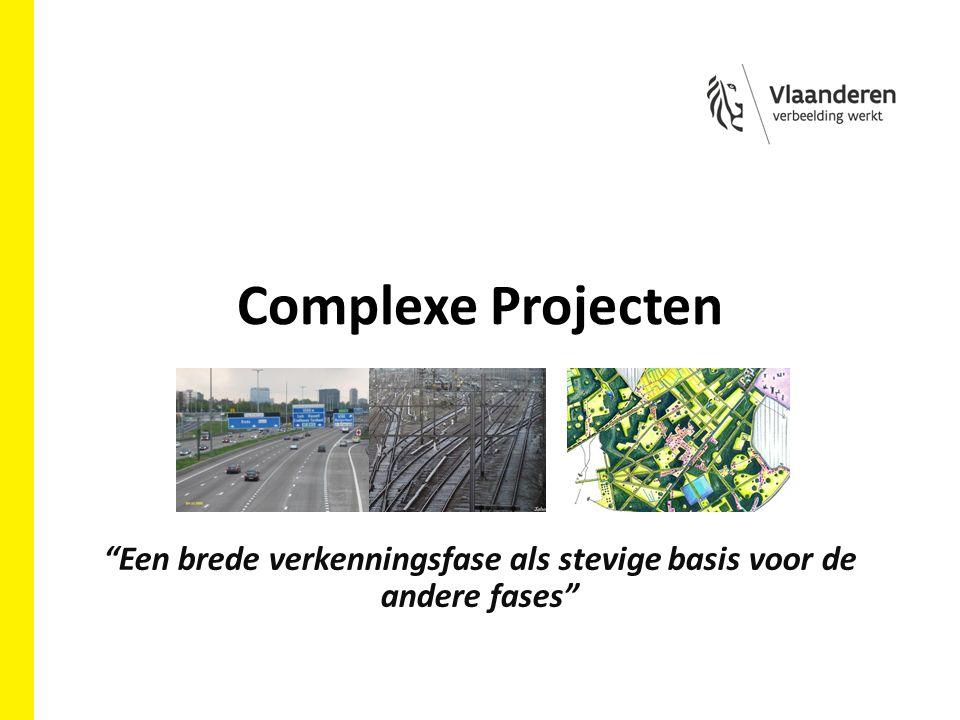 Complexe Projecten Een brede verkenningsfase als stevige basis voor de andere fases