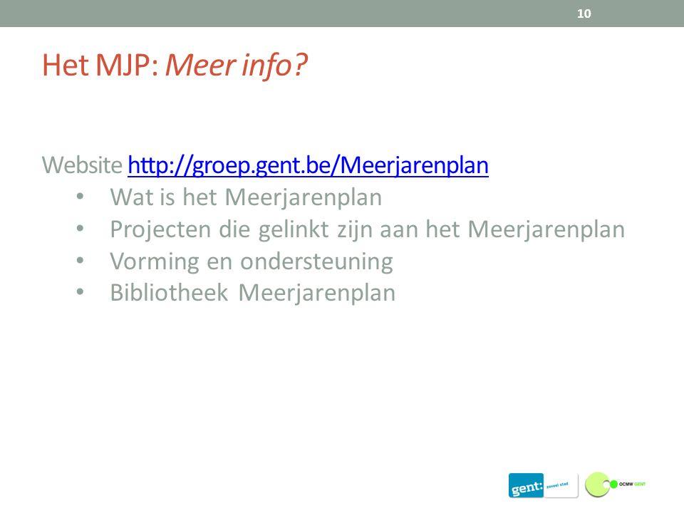Het MJP: Meer info.