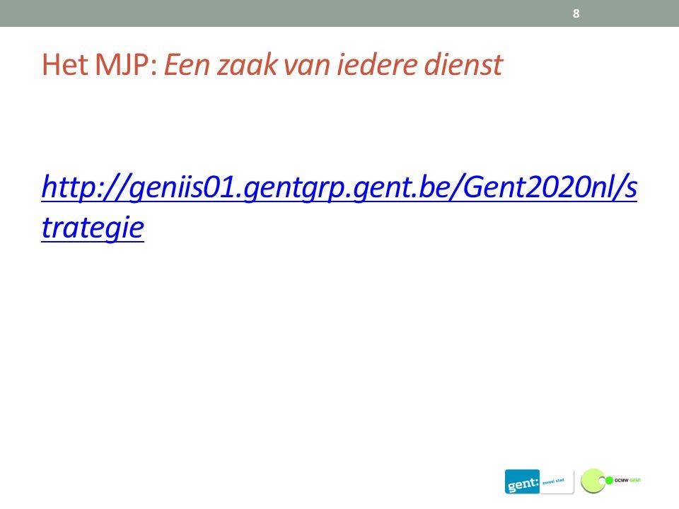Het MJP: Een zaak van iedere dienst http://geniis01.gentgrp.gent.be/Gent2020nl/s trategie 8