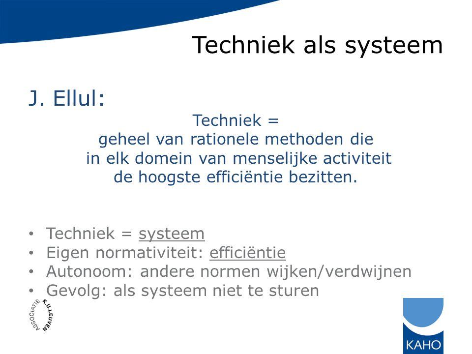 Techniek als systeem J.