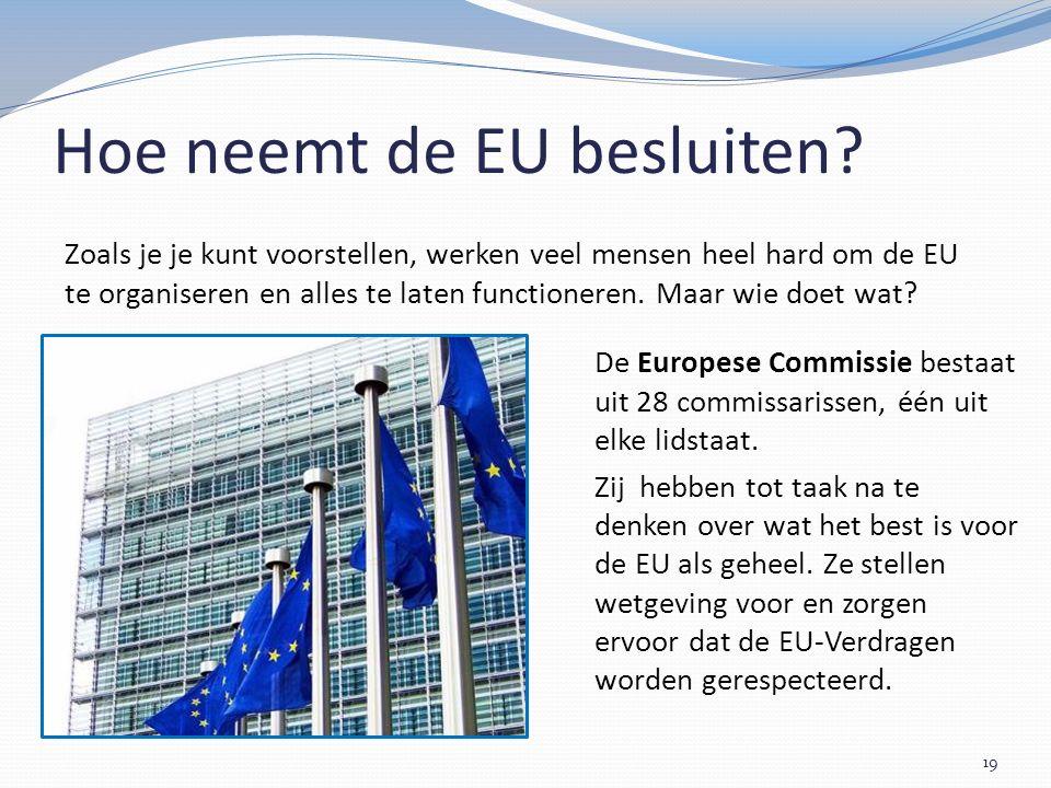 Hoe neemt de EU besluiten.