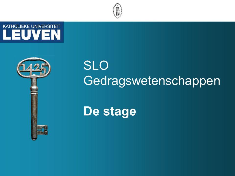 SLO Gedragswetenschappen De stage