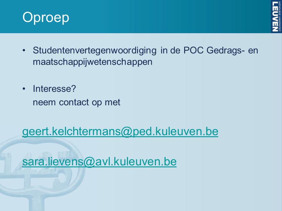Oproep Studentenvertegenwoordiging in de POC Gedrags- en maatschappijwetenschappen Interesse.