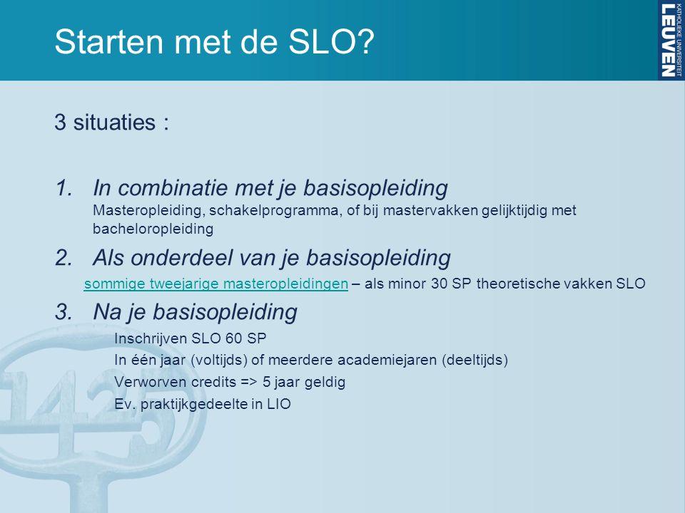 Administratie Studiegelden SLO: i.f.v.