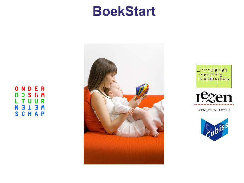 Initiatief Boekstart Ministerie van OC&W (minister Plasterk) Stichting Lezen Vereniging van Openbare Bibliotheken Cubiss Projectleider: Adriaan Langendonk
