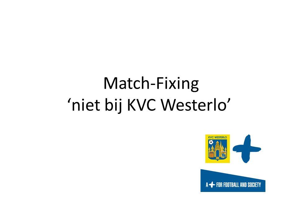 Match-Fixing 'niet bij KVC Westerlo'