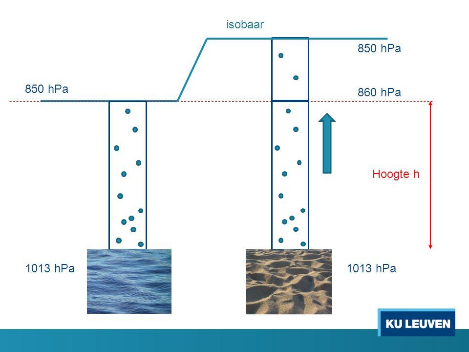 850 hPa 860 hPa Hoogte h isobaar