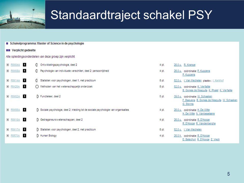 Standaardtraject schakel PSY 5
