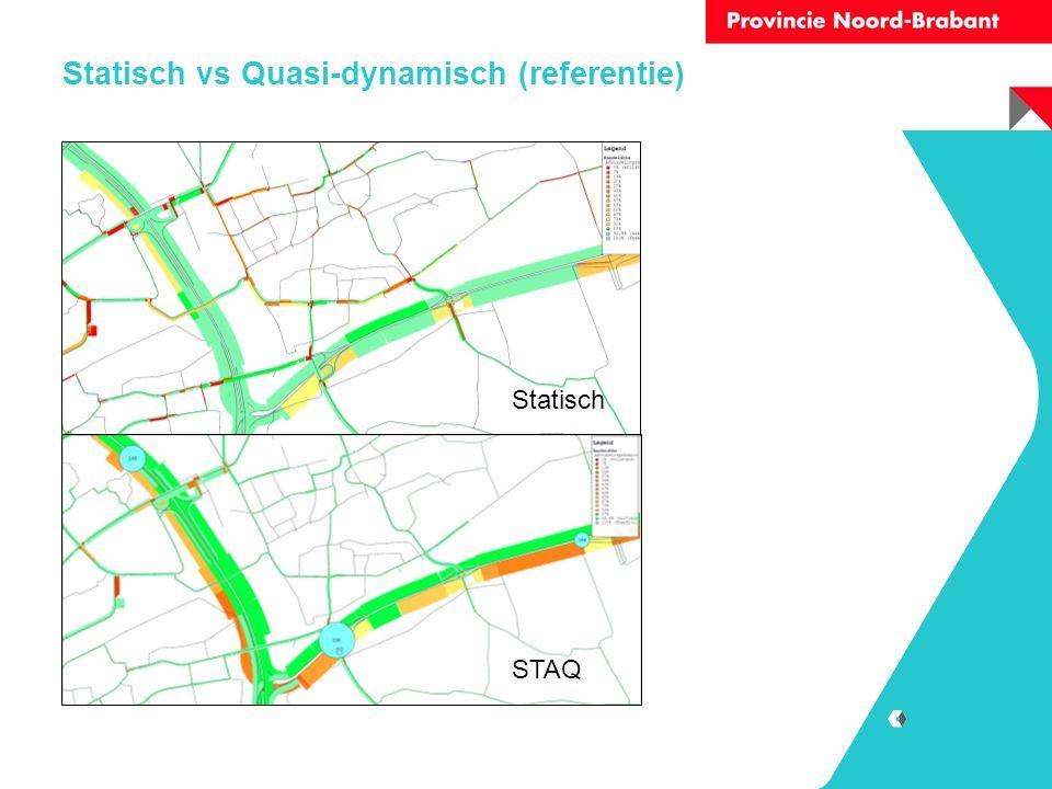 Statisch vs Quasi-dynamisch (referentie) Statisch STAQ
