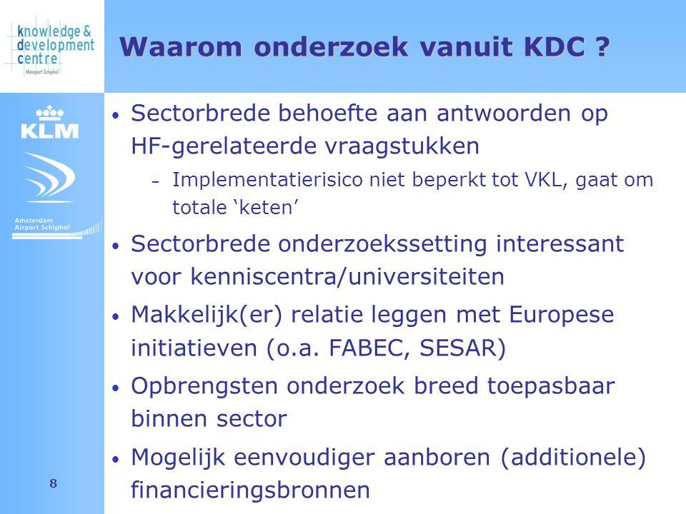 Amsterdam Airport Schiphol 8 Waarom onderzoek vanuit KDC .