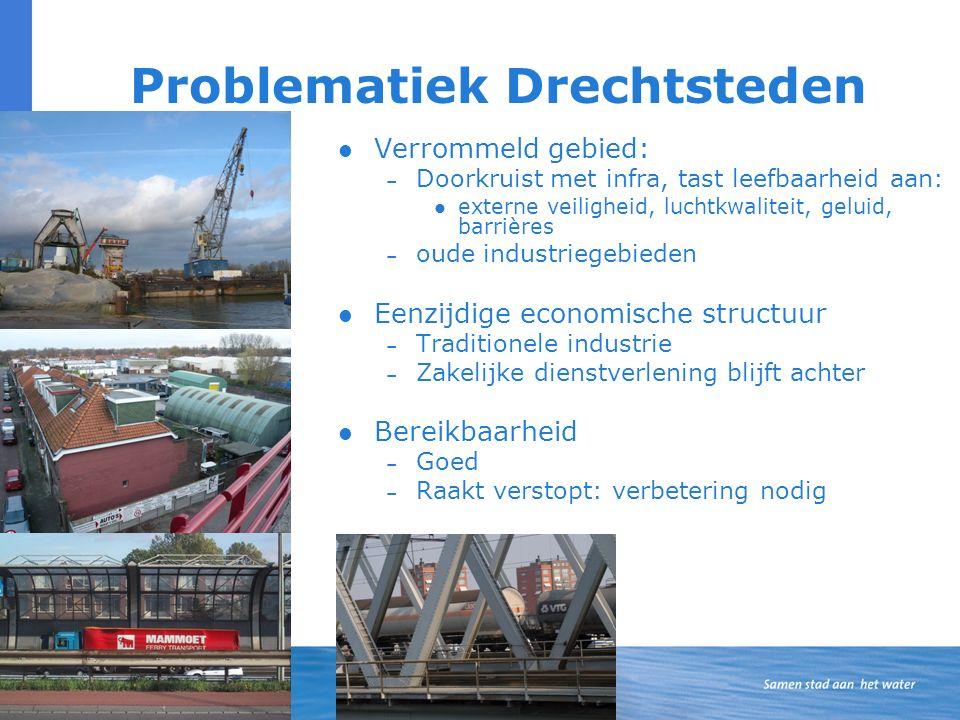 Inzet afspraken Verstedelijking – Grote opgave binnenstedelijk (80%), Financiële hulp bij grote projecten, Stadswerven, Maasterras, Noordoevers.