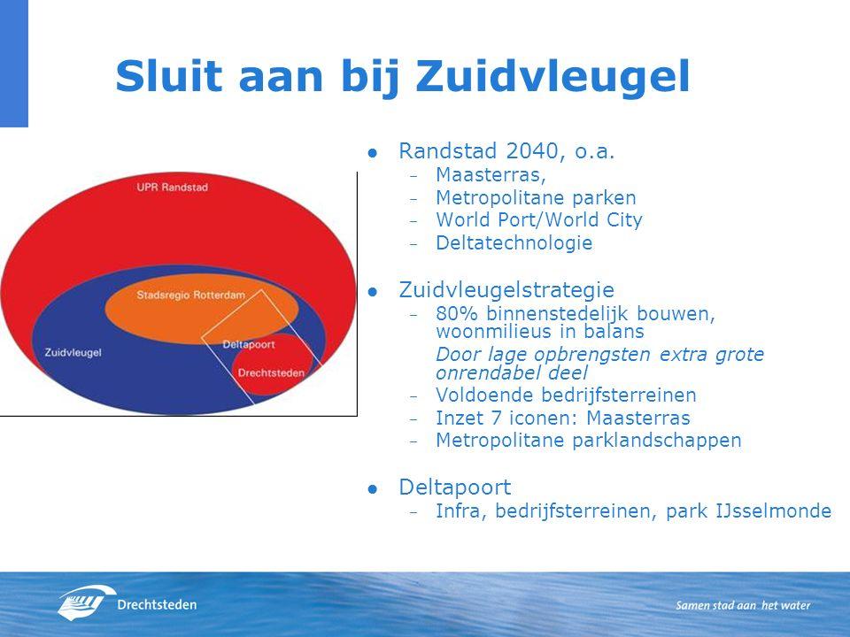 Sluit aan bij Zuidvleugel Randstad 2040, o.a.