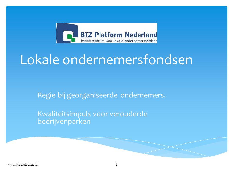 Lokale ondernemersfondsen Regie bij georganiseerde ondernemers.