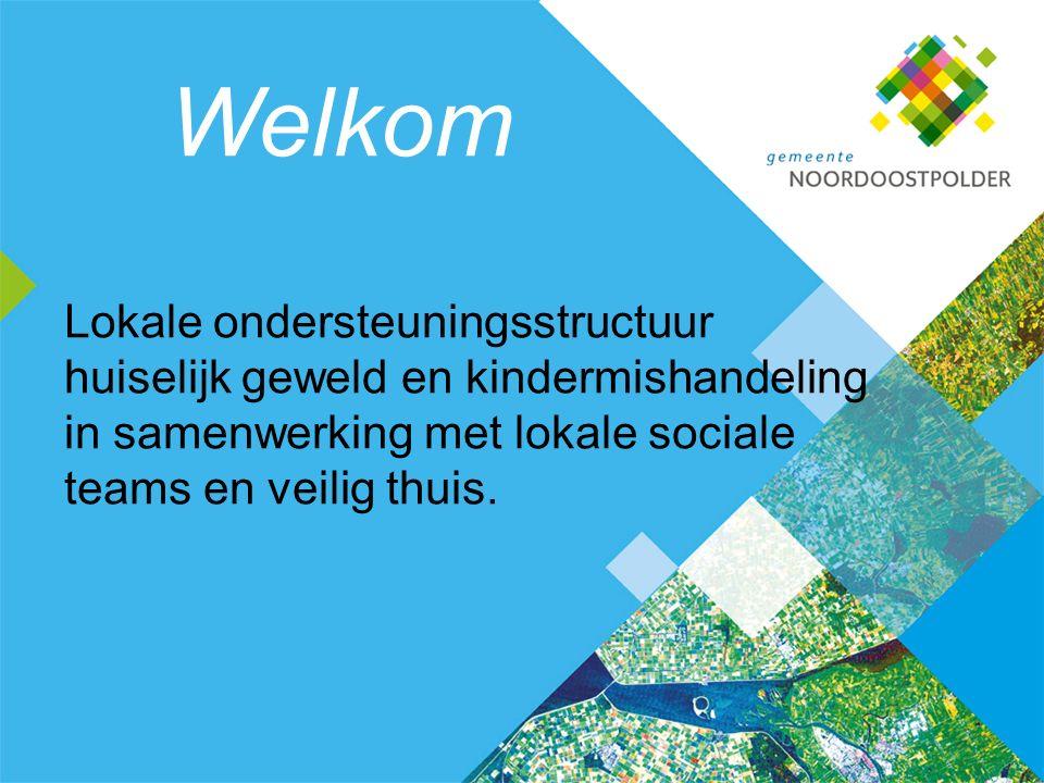 Welkom Lokale ondersteuningsstructuur huiselijk geweld en kindermishandeling in samenwerking met lokale sociale teams en veilig thuis.
