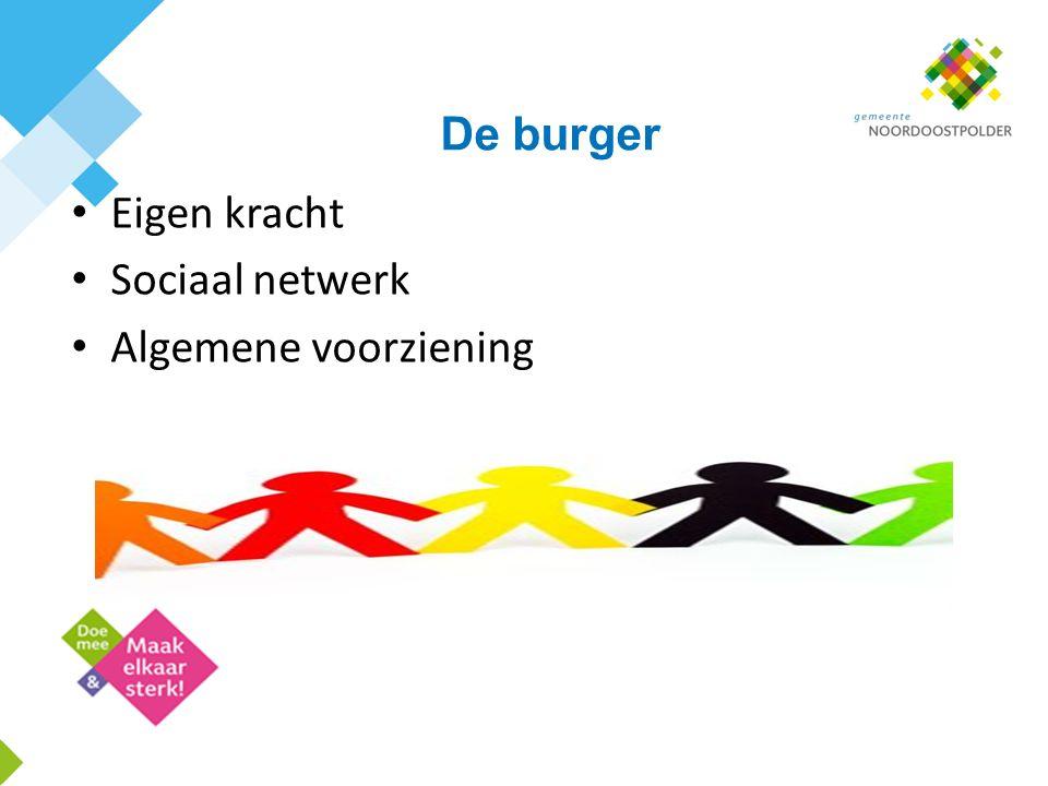 De burger Eigen kracht Sociaal netwerk Algemene voorziening
